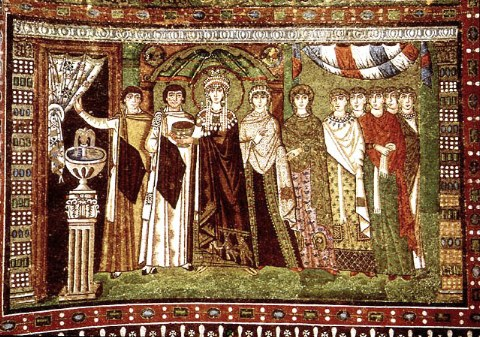 theodora and her attendants Excellent example of selected answer carolingian excellent example of selected answer carolingian art medium for theodora and her attendants is.